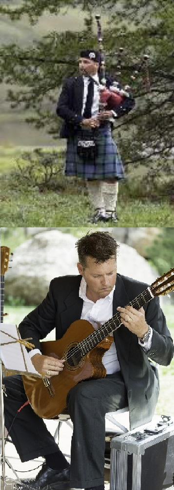 Bagpipe & Guitar lessons in Denver Colorado.  Studio, Skype and house call lessons available.  Guitar photo by Greg Roe at www.roephotography.com